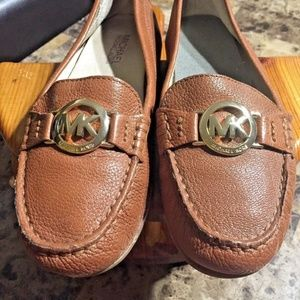 84921ffbb4f4b Michael Kors Luggage Color Molly Loafer Flats Sz 6